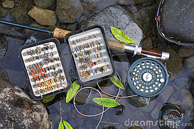 Flyrod and artificial flies