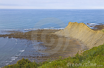 Flysch of Zumaia, declared protected biotype.