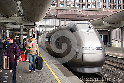 FlyToget train at Oslo railway station Editorial Image