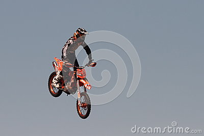 FMX motorcross demonstration Editorial Image