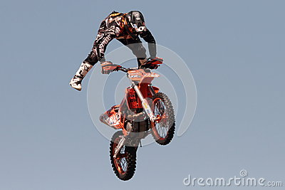 FMX motorcross demonstration Editorial Photo