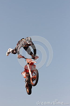 FMX motorcross demonstration Editorial Photography