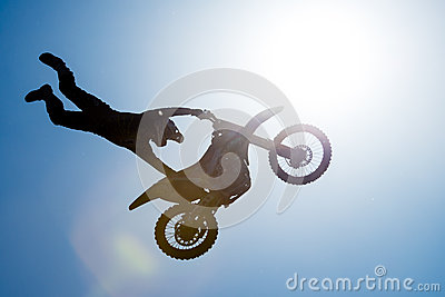 FMX rider performing trick Editorial Image