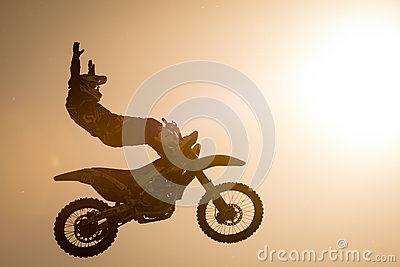 FMX rider performing trick Editorial Photography