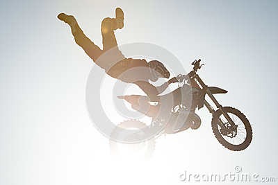 FMX rider performing trick Editorial Photo