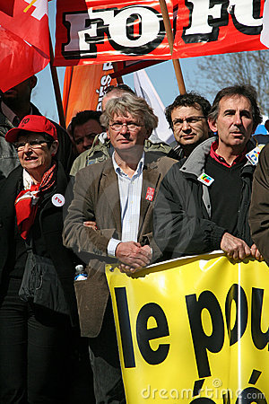 FO trade union leader Jean-Claude Mailly Editorial Stock Image