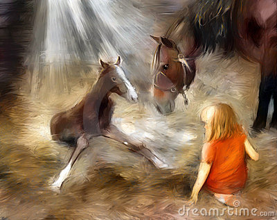 Foal first step