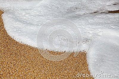 Foam on beach