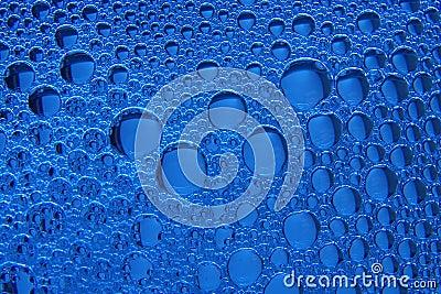 Foam on blue