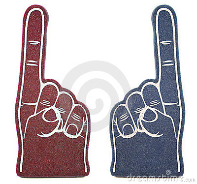 Free Foam Finger Rivals Stock Photos - 4302463