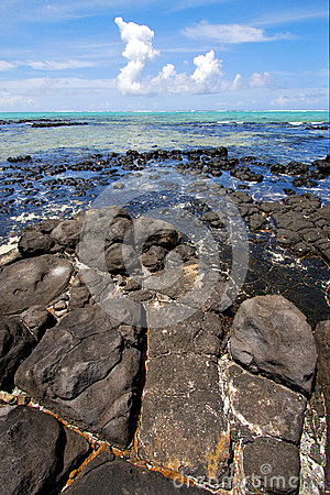 Free Foam Indian Ocean Some Stone In The Island Stock Photos - 58509183