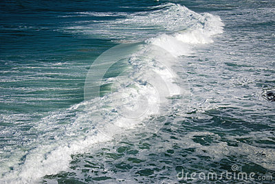 Foam of ocean