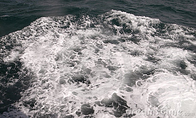 Foaming breaking sea