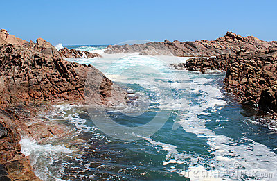 Foaming waters  at Canal rocks West Australia