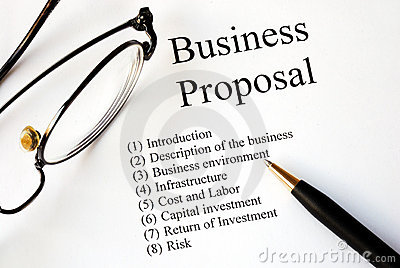 Focus On The Business Proposal Stock Photo