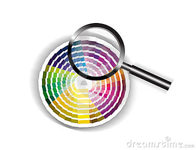 Focus on Colour with Magnifying Glass illustration