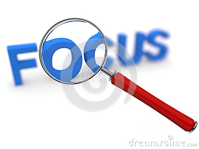 Focus concept with magnifier