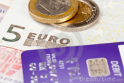 Focus on debit on card with euro