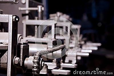 Focus on detail of complex machine