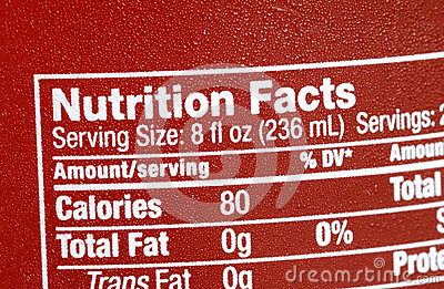 Focus on the nutrition facts