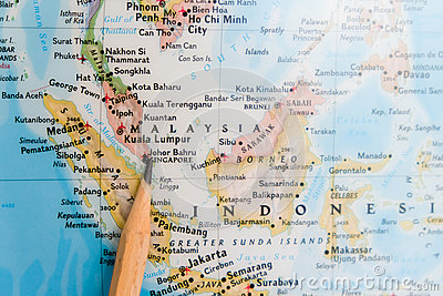 Focus on singapore on the world map with pencil pointing stock image focus on singapore on the world map with pencil pointing stock image gumiabroncs Images