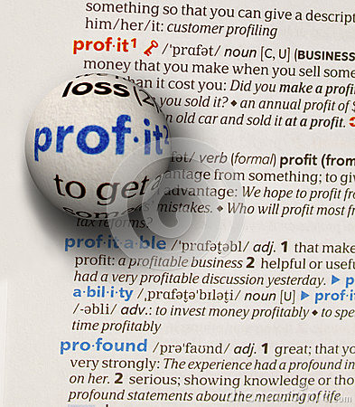 Focus on word profit