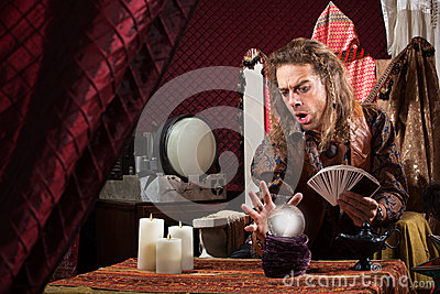 Focused Fortune Teller Stock Images - Image: 31965334