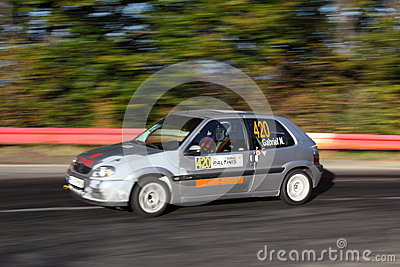 Focused rally driver Editorial Stock Photo