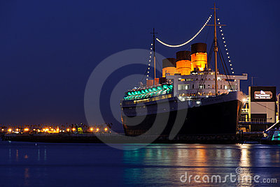 Fodera di oceano di Queen Mary Immagine Editoriale