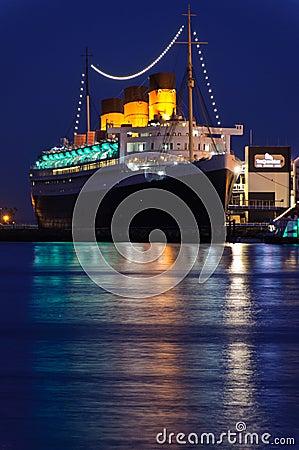 Fodera di oceano di Queen Mary Fotografia Stock Editoriale