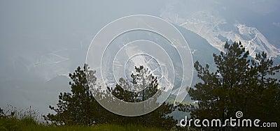 Fog in Apuan Alps, Carrara, Italy