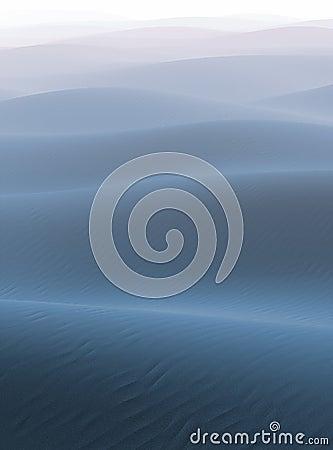 Fog on the blue desert