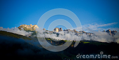 Fog In Dolomites Mountains, Italy Royalty Free Stock Photos - Image: 26456618