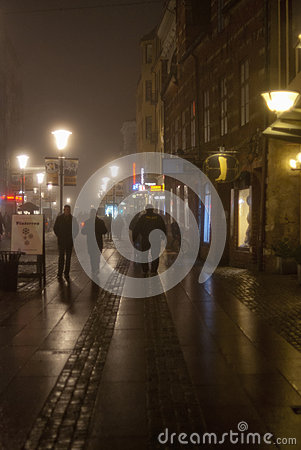 Free Fog In The City At Night Stock Photo - 65706950