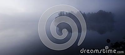 Fog on Island Lake