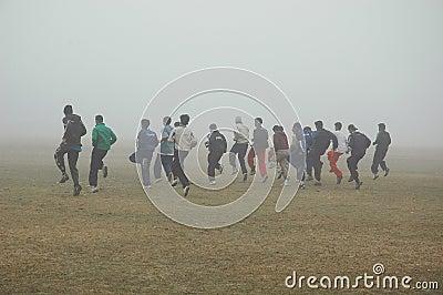 Fog in Kolkata Editorial Image