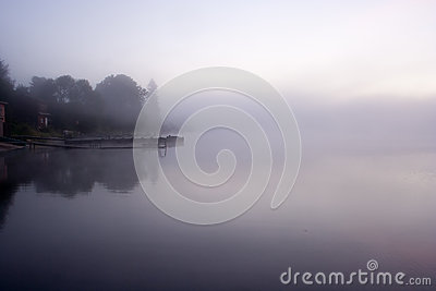 Lake Seliger: morning mist