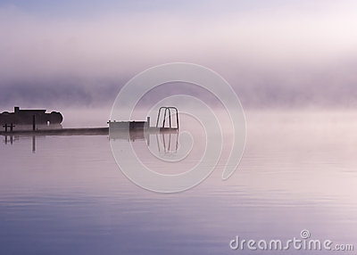 Lake Seliger: fog moorage
