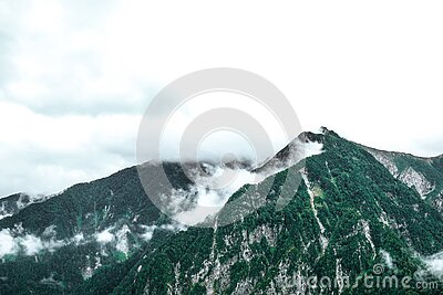 Fog Over Snowy Mountain Peaks Free Public Domain Cc0 Image