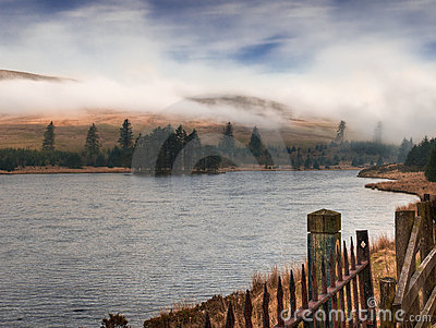 Fog over Welsh Reservoir