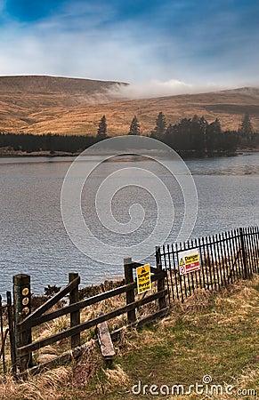Fog over Welsh Reservoir