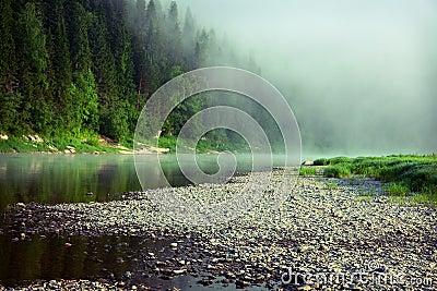 Fog on a river
