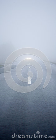 Fog Road Stock Photo - Image: 27177840