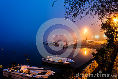 Fog On The Seaside Town