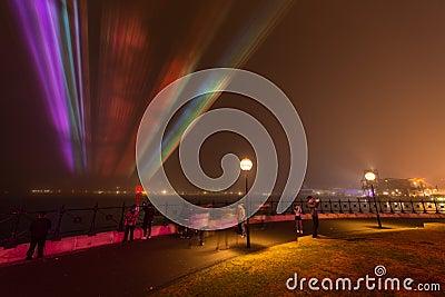 Fog shrouds  Circular Quay in Sydney. Editorial Image