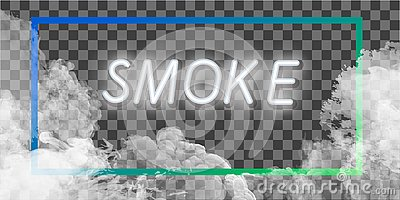 Fog or smoke transparent special effect. White cloudiness, mist or smog background. Vector illustration Stock Photo