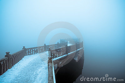Fog and zigzag bridge