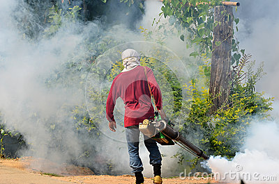 Fogging to prevent spread of dengue fever