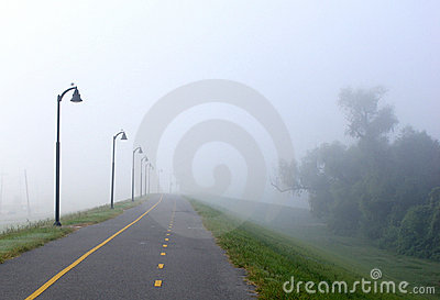 Foggy Bike Path