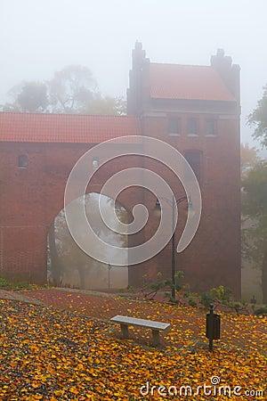 Foggy day at Kwidzyn castle